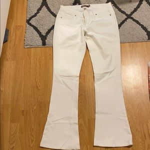 White flare jeans!